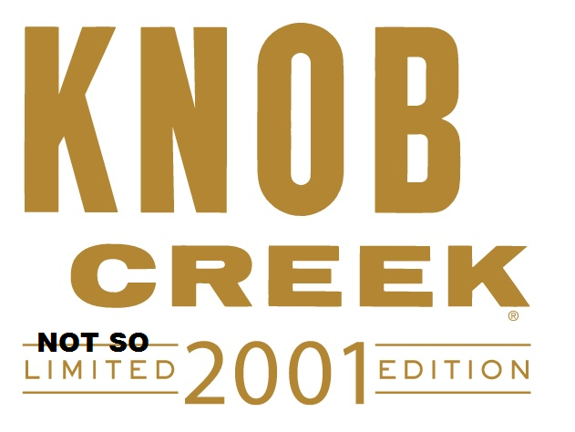Beam blew it with the Knob Creek 2001 release.